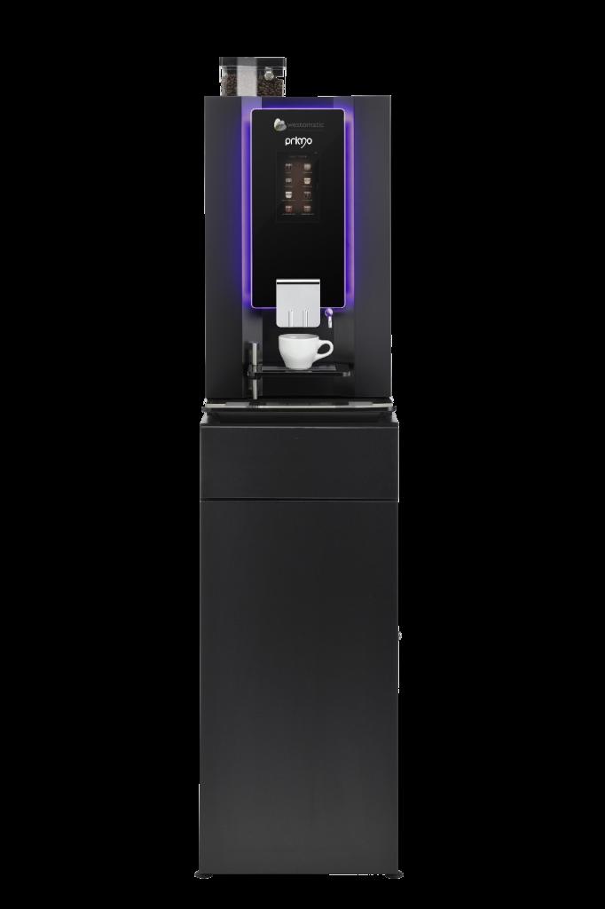 Horeca machine with base cabinet