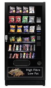 Snack vending machine with branding