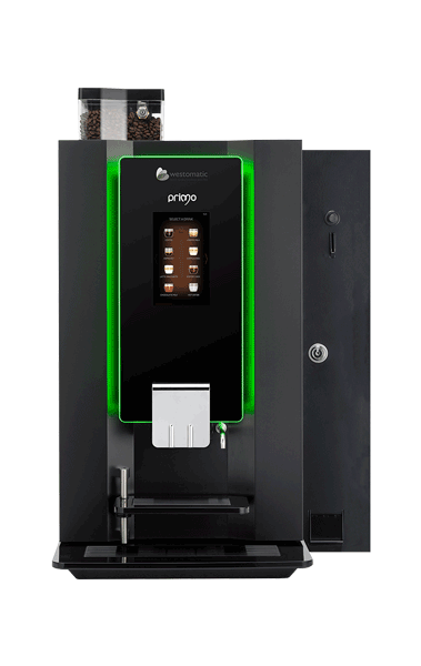 Touch screen coffee machine with payment module
