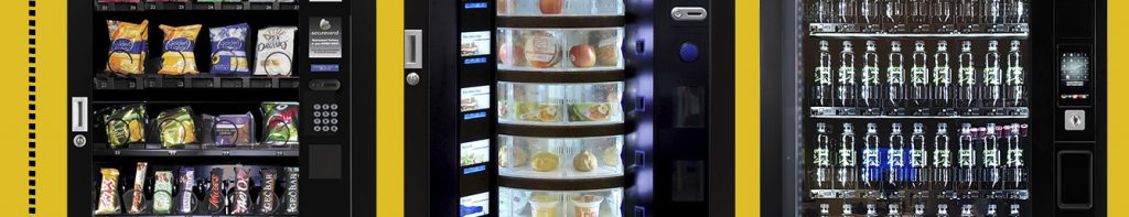Image strip showing sections of snack and food machines
