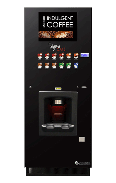 Vending machine with touch buttons
