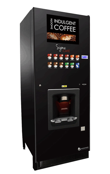 Vending machine with large advertisement screen
