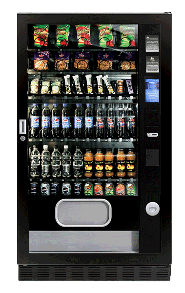 Touch screen snack vending machine