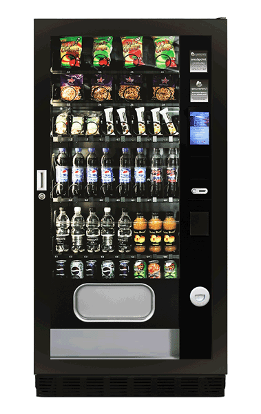 Touch scree, snack and bottle vending machine