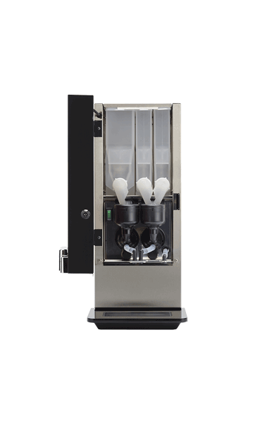 Instant tabletop hot drinks machine with three canisters