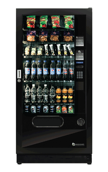 Snack vending machine with secure vend
