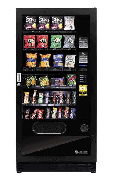 Snack vending machine with contactless payment system