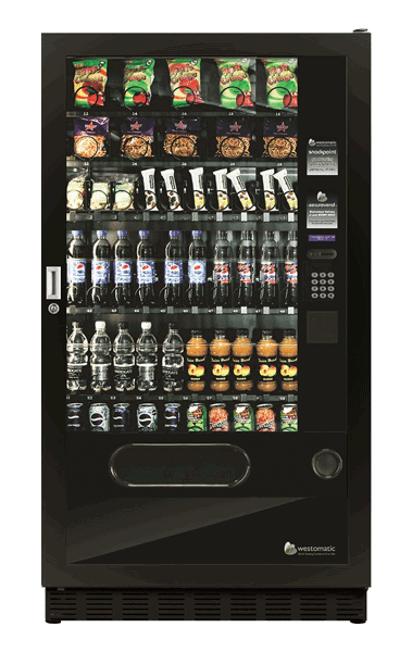 Large snack, crisp and drink vending machine
