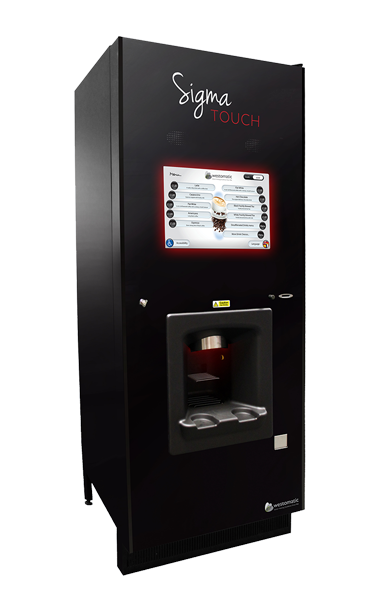 Coffee vending machine with touch screen menu